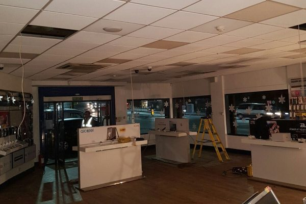 Commercial Grid Ceiling Repairs After Fire Damage